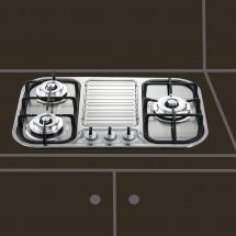三口檯面爐   JT-2303S